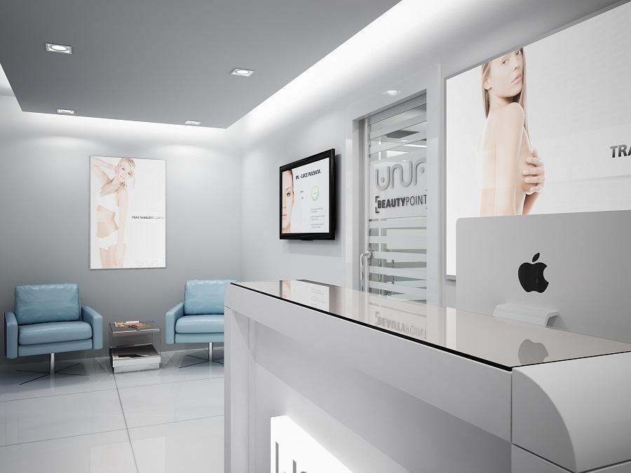 Reception centro estetico cura della pelle for Centro estetico arredamento